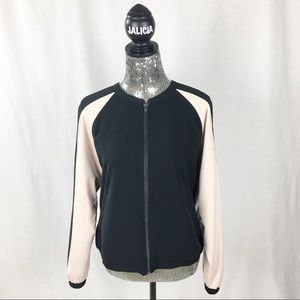 Mossimo Black and Pink Bomber Jacket
